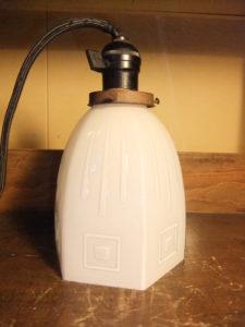 大正ロマンエンボスシェード アンティーク照明 ランプ ビンテージ