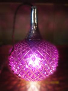 紫ガラスペンダントライト